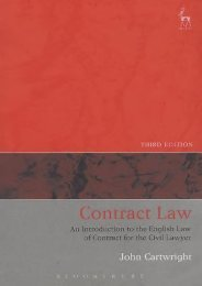 Unlimited Read and Download Contract Law: An Introduction to the English Law of Contract for the Civil Lawyer -  For Ipad - By John Cartwright