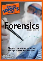 Best PDF The Complete Idiot s Guide to Forensics (Complete Idiot s Guides (Lifestyle Paperback)) -  For Ipad - By Alan Axelrod