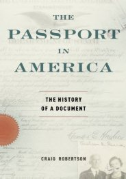 Download Ebook The Passport in America: The History Of A Document -  For Ipad - By Craig Robertson