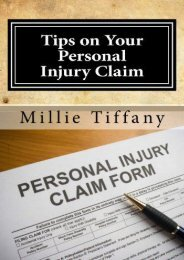 Read PDF Tips on Your Personal Injury Claim -  [FREE] Registrer - By Millie Tiffany