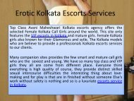 Erotic Kolkata Escorts Services - Avani Maheshwari