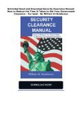 Unlimited Read and Download Security Clearance Manual: How to Reduce the Time It Takes to Get Your Government Clearance -  For Ipad - By William H Henderson - Page 2