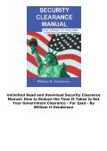 Unlimited Read and Download Security Clearance Manual: How to Reduce the Time It Takes to Get Your Government Clearance -  For Ipad - By William H Henderson - Page 4