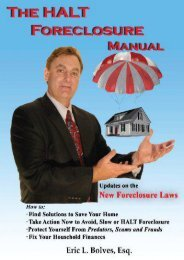[Free] Donwload The Halt Foreclosure Manual: Take Control! Save Your Home! -  Unlimed acces book - By