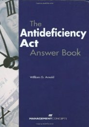 [Free] Donwload The Antideficiency Act Answer Book -  Best book - By William G. Arnold