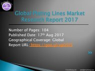 World Plating Lines Market Study – 2017 Research 2022 Forecasts Report