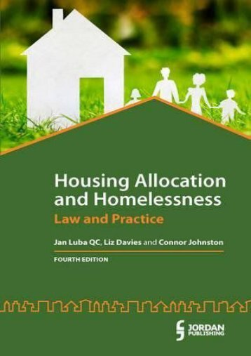 Full Download Housing Allocation and Homelessness: Law and Practice -  Unlimed acces book - By Jan Luba QC