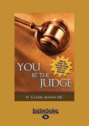 [Free] Donwload You Be the Judge -  Best book - By H. Clark Adams