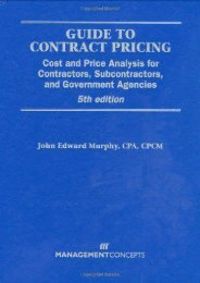 Full Download Guide to Contract Pricing -  Online - By J. Edward, Jr. Murphy