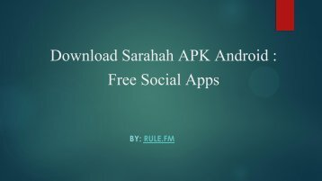 Sarahah APK Android - Free Social Apps