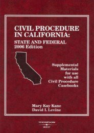 [Free] Donwload Civil Procedure in California: State and Federal: Supplemental Materials for Use with All Civil Procedure Casebooks (American Casebooks) -  Populer ebook - By Mary Kay Kane