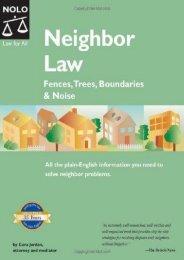 Read PDF Neighbor Law: Fences, Trees, Boundaries,   Noise -  Best book - By Cora Jordan