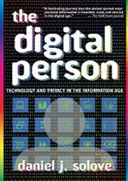 Full Download The Digital Person: Technology and Privacy in the Information Age (Ex Machina: Law, Technology, and Society) -  For Ipad - By Daniel J. Solove