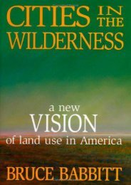 Best PDF Cities in the Wilderness: A New Vision of Land Use in America -  Best book - By Bruce Babbitt