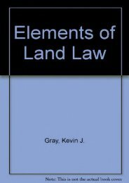 Best PDF Elements of Land Law -  For Ipad - By Kevin J. Gray