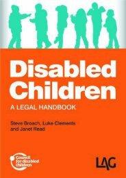 Read PDF Disabled Children: A Legal Handbook -  For Ipad - By Steve Broach