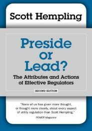 Read PDF Preside or Lead?  The Attributes and Actions of Effective Regulators -  For Ipad - By Scott Hempling