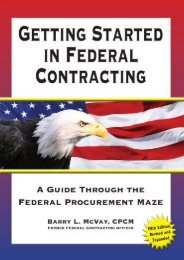 Full Download Getting Started in Federal Contracting: A Guide Through the Federal Procurement Maze -  Best book - By Barry L. McVay