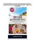 Download Ebook Low Carb: 100 International Recipes - Inspirational Low Carb Diet Recipes From A -  Online - By Craig Miller - Page 2