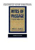 [Free] Donwload Rites of Passage Congress Makes Law: Congress Makes Laws -  Best book - By Robert E Dewhirst - Page 2