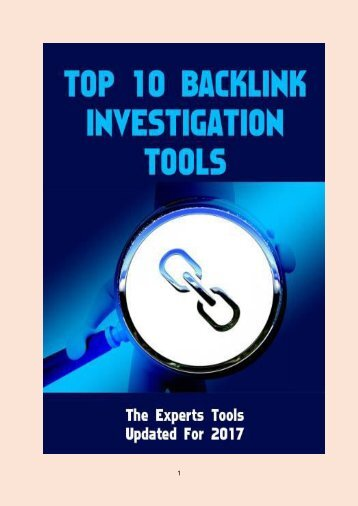 Top 10 Backlink Investigation Tools
