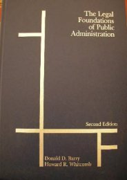 Unlimited Read and Download Legal Foundations of Public Administration -  For Ipad - By Donald D. Barry