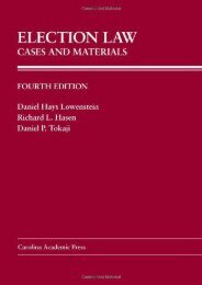 Unlimited Ebook Election Law: Cases and Materials (Carolina Academic Press Law Casebook) -  [FREE] Registrer - By Daniel Hays Lowenstein