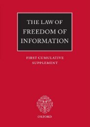 Unlimited Read and Download The Law of Freedom of Information: First Cumulative Supplement -  For Ipad - By John Macdonald