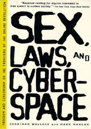 Best PDF Sex, Laws, and Cyberspace: Freedom and Censorship on the Frontiers of the Online Revolution -  For Ipad - By Jonathan Wallace