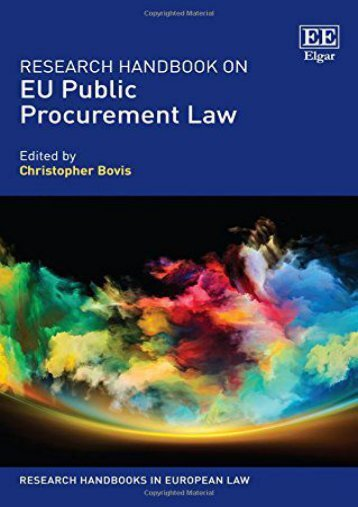 Unlimited Read and Download Research Handbook on EU Public Procurement Law (Research Handbooks in European Law Series) -  Online - By Christopher Bovis