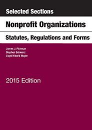 Download Ebook Selected Sections on Nonprofit Organizations, Statutes, Regulations, and Forms (Selected Statutes) -  Unlimed acces book - By James Fishman