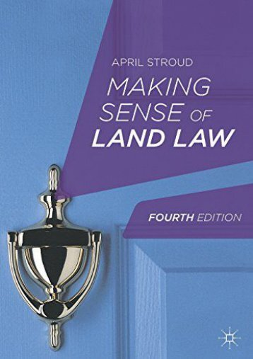 Unlimited Read and Download Making Sense of Land Law -  [FREE] Registrer - By April Stroud