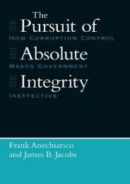Best PDF The Pursuit of Absolute Integrity: How Corruption Control Makes Government Ineffective (Studies in Crime   Justice) -  [FREE] Registrer - By Frank Anechiarico