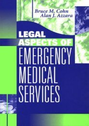 [Free] Donwload Legal Aspects of Emergency Medical Services -  For Ipad - By Bruce M. Cohn JD  EMT-CC
