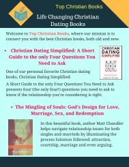 Life Changing Christian Dating Books - You Must Read