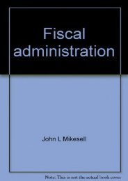 Unlimited Ebook Fiscal administration: Analysis and applications for the public sector -  Unlimed acces book - By John L Mikesell
