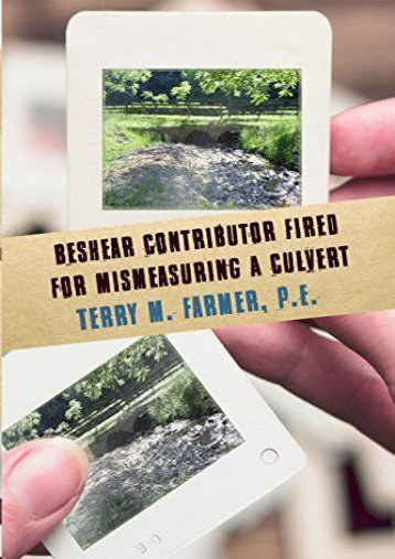 Read PDF Beshear Contributor Fired for Mismeasuring a Culvert -  Best book - By P E Terry M Farmer