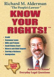 Best PDF Know Your Rights!: Answers to Texans  Everyday Legal Questions -  Populer ebook - By Richard M. Alderman