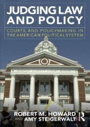 Best PDF Judging Law and Policy -  Unlimed acces book - By Robert M. Howard