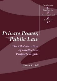 Read PDF Private Power, Public Law: The Globalization of Intellectual Property Rights (Cambridge Studies in International Relations) -  Unlimed acces book - By Susan K. Sell