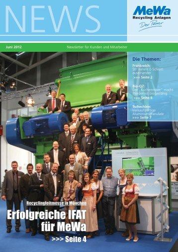 Erfolgreiche IFAT für MeWa - MeWa Recycling Maschinen und ...