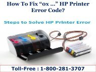 "How To Fix ""0x …"" HP Printer Error Code