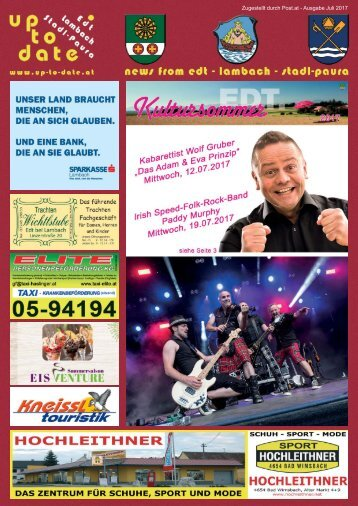 news from edt - lambach - stadl-paura Juli 2017