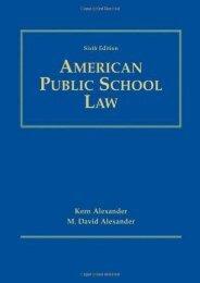 Download Ebook Amer Public School Law 6e -  Populer ebook - By ALEXANDER