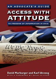 [Free] Donwload Access with Attitude: An Advocate s Guide to Freedom of Information in Ohio -  Unlimed acces book - By Ohio University Press
