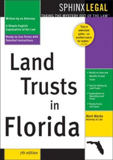 Download Ebook Land Trusts in Florida -  Best book - By Mark Warda
