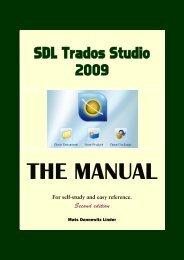 Version 2009 - SDL Trados Studio Manual