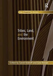 Download Ebook Tribes, Land, and the Environment (Law, Property and Society) -  Unlimed acces book - By