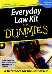 Read PDF Everyday Law Kit for Dummies (For Dummies (Lifestyles Paperback)) -  Online - By John Ventura