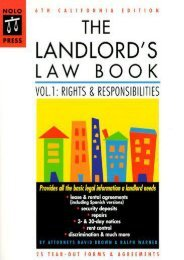 Unlimited Read and Download The Landlord s Law Book: California Edition: 001 (6th ed) -  [FREE] Registrer - By David Brown